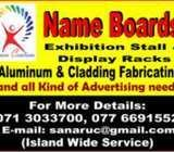 Name Boards,Display units ,stalls