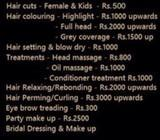 Hair colour and straightening offers