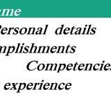 Professional CV, SOP, Recommendation letters