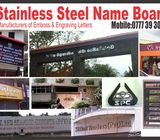 STAINLESS STEEL  NAME BOARD