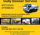 Gully Bowser Septic tank waste water cleaning service O77O5Oo352