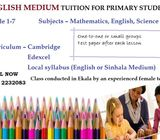 classes from grade 01- grade 07 / English or sinhala medium