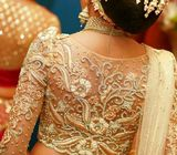 BRIDAL SARI JACKETS MAKING, DESIGNING & BRIDLE KANDYAN  SARI MADE UP