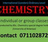 London (international) Ordinary level Chemistry classes