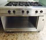 Six burner stainless Gas Cooker