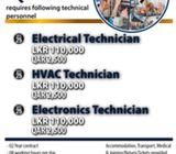 Technicians for Qatar
