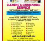 cleaning & maintenance service