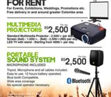 Rent Stuffs | Multimedia Projectors and Sound Systems for rent.