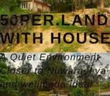 50 per. Land with House for sale ,near to Nuewaraeliya ideal for commercail purpose