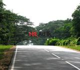 main road front land with house in matale