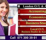 london & local o/l & a/l accounting,econ & business studies