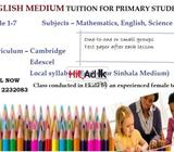 english medium tuition for primary students