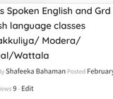 Spoken English for Ladies & school children in Colombo