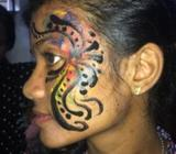 Face hand painting for adults kids