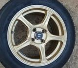 Tyre with Alloy Wheels