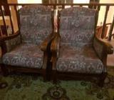Wooden/ Cusion Sofa Set