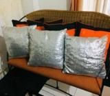 Used Arpico Cane Sofa Set