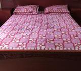 Teak queen size bed