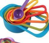 6 Pcs Colorful Measuring Cup Spoon Set