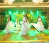 Dancing group girls