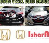Honda Vezel Gold Badge Set