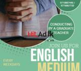 english medium classes up to ordinary level