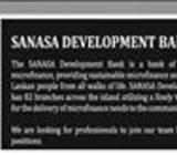 Job Vacancies At Sanasa Development Bank