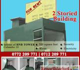 Two storied Building for rent