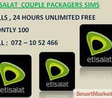 ETISALAT COUPLE SIM