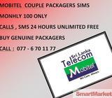 Mobitel Sim Couple Package