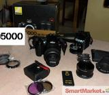 Nikon D5000 with 18-55mm Lens