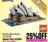 LEGO Sydney Opera House Flat 25% OFF