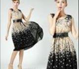 New Fashion Floral Printed Maxi Dress