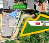 Madiwela,Sri Jayewardenepura Kotte Bare Flat Land for sale 10 Perch Black for sale 17.94 Perches   C