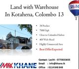 Land with Warehouse In Kotahena, Colombo 13