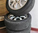 Tyres with Alloy wheels