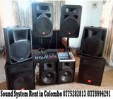 Sound system Rent in colombo 0775282813