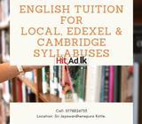 english tution for local & london syllabuses