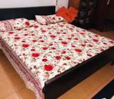 Teak Queen Size Bed With Matress 6x5