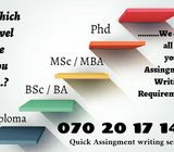 ***Quick Assignment Writing Service***