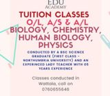 Cambridge/Edexcel Tuition Classes
