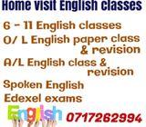 Home visit English classes; Kegalle, Mawanella, peradeniya, Kandy