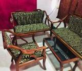 New condition wooden sofa set