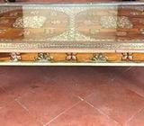 Brass and Copper Inlaid Table