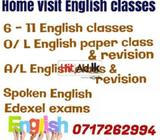 home visit english classes, colombo, kegalle, 0717262994