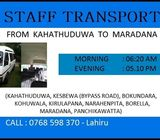Staff service Available