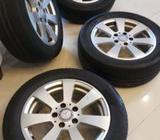 Benz Alloys with Tyres Size 16