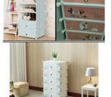 DIY Plastic Storage Shoe Cabinet