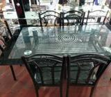 Glass Dining Table 6 Chair (A21