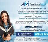 Group/Individual Classes - English/Eng.medium Subjects